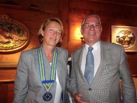 Cornelia Frautschi Präsidentin (2018/19) und Pascal Rey (Präsident 2017/18)